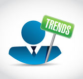 Trends avatar sign concept illustration Royalty Free Stock Photo