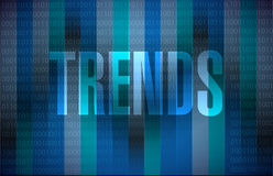 Trends binary sign concept illustration Royalty Free Stock Images