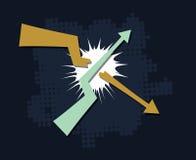 Trends break symbol vector Stock Photography