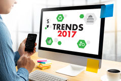 TRENDS 2017 business success  Creative thinking businessman work Royalty Free Stock Image