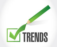 Trends check list sign concept illustration Royalty Free Stock Images