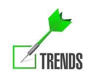 Trends check list sign concept Stock Image