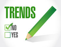 Trends checklist sign concept Stock Images