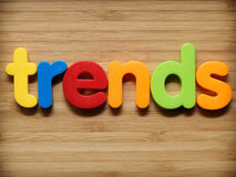 Trends concept. In colorful letters Royalty Free Stock Image
