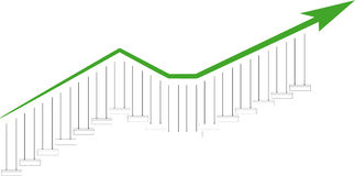 Trends graph Royalty Free Stock Photo