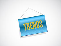 Trends hanging banner sign concept Stock Images