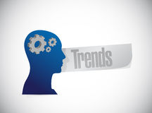 Trends head sign concept illustration Royalty Free Stock Photography