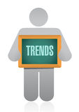 Trends icon sign concept illustration Royalty Free Stock Photos