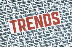 Trends illustration concept Royalty Free Stock Photos