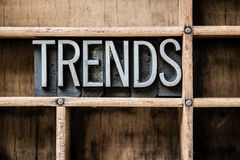 Trends Letterpress Type in Drawer Royalty Free Stock Image
