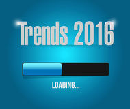 Trends 2016 loading bar illustration design. Graphic Stock Photo