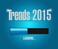 Trends 2015 loading bar illustration design. Graphic Stock Images