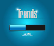 Trends loading bar sign concept illustration Stock Photo
