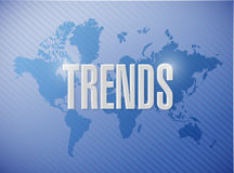 Trends map sign concept illustration Stock Photography