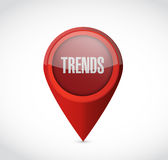Trends pointer sign concept illustration Stock Photography