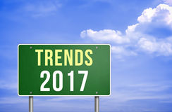 Trends for 2017. Road sign Stock Photo
