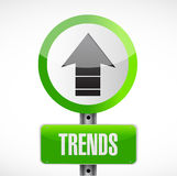 Trends road sign concept illustration design Stock Photo