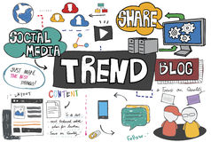 Trends Trend Trending Trendy Fashion Style Design Concept Stock Image