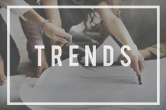 Trends Trendy Design Modern Style Concept.  stock images