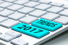 Trends 2017 wording on keyboard. Trends 2017 wording on computer keyboard Stock Images