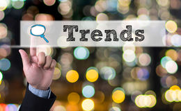 Trends written in search bar Royalty Free Stock Image