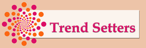 Trendsetters Pink Orange White Horizontal Stock Photos