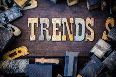 Trendu pojęcia Ośniedziały typ Obrazy Stock