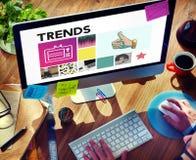 Trendu projekta moda Wprowadzać na rynek Nowożytnego Stylowego pojęcie Zdjęcie Stock