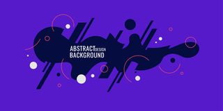 Trendy abstract background. Composition of amorphous forms and lines. Vector illustration royalty free illustration