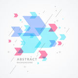 Trendy abstract background. Composition of geometric shapes. Vector illustration vector illustration