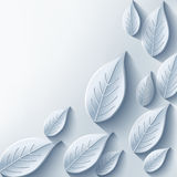Trendy abstract background with gray 3d leaf. Trendy stylish abstract background with gray 3d leaf. Eco background with plant. Modern floral grey background Royalty Free Stock Photography