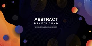 Trendy abstract background abstract template vector illustration with dark colors. Design fluid gradient geometric graphic liquid minimal poster futuristic stock illustration