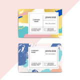 Trendy abstract business card templates. Modern luxury beauty sa Royalty Free Stock Photography