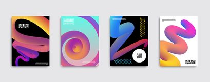 Trendy abstract covers. Liquid color shapes for composition backgrounds. Futuristic design posters. vector illustration
