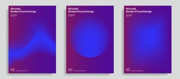 Trendy abstract design templates stock illustration