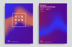 Trendy abstract design templates royalty free illustration