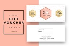 Trendy abstract gift voucher card templates. Modern discount cou. Pon or certificate layout with artistic stroke pattern. Vector fashion bright background design Stock Images