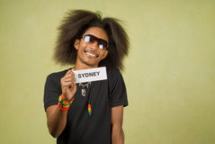 Trendy African American Traveler Royalty Free Stock Images