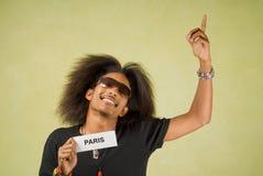 Trendy African American Traveler Stock Photo
