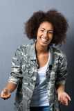 Trendy African American woman with an afro Royalty Free Stock Images