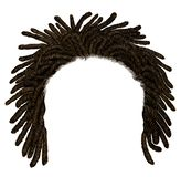 Trendy african  hair dreadlocks . realistic  3d . fashion beauty style royalty free stock image