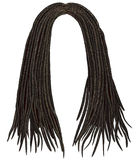 Trendy african long  hair dreadlocks .  fashion beauty style . Royalty Free Stock Images