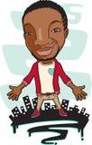 Trendy Afrikaanse mens stock illustratie