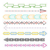 Trendy arrows set Royalty Free Stock Photography