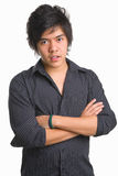Trendy Asian teenager. Portrait of a trendy Asian teenager Stock Image
