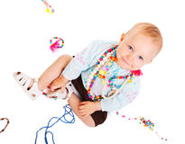 Trendy baby girl Royalty Free Stock Photography