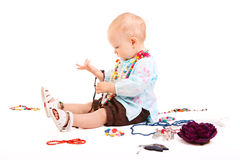 Trendy baby girl Stock Photos