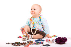 Trendy baby girl Royalty Free Stock Photo