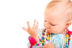 Trendy babymeisje stock foto