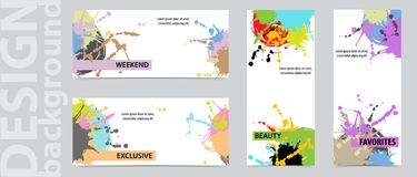 Trendy backgrounds business cards set. Design  backgrounds for booklet, cards. Vector illustration. Trendy backgrounds business cards set. Design  backgrounds vector illustration